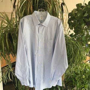Brook's Brothers Blue Striped 18-36 Dress Shirt.